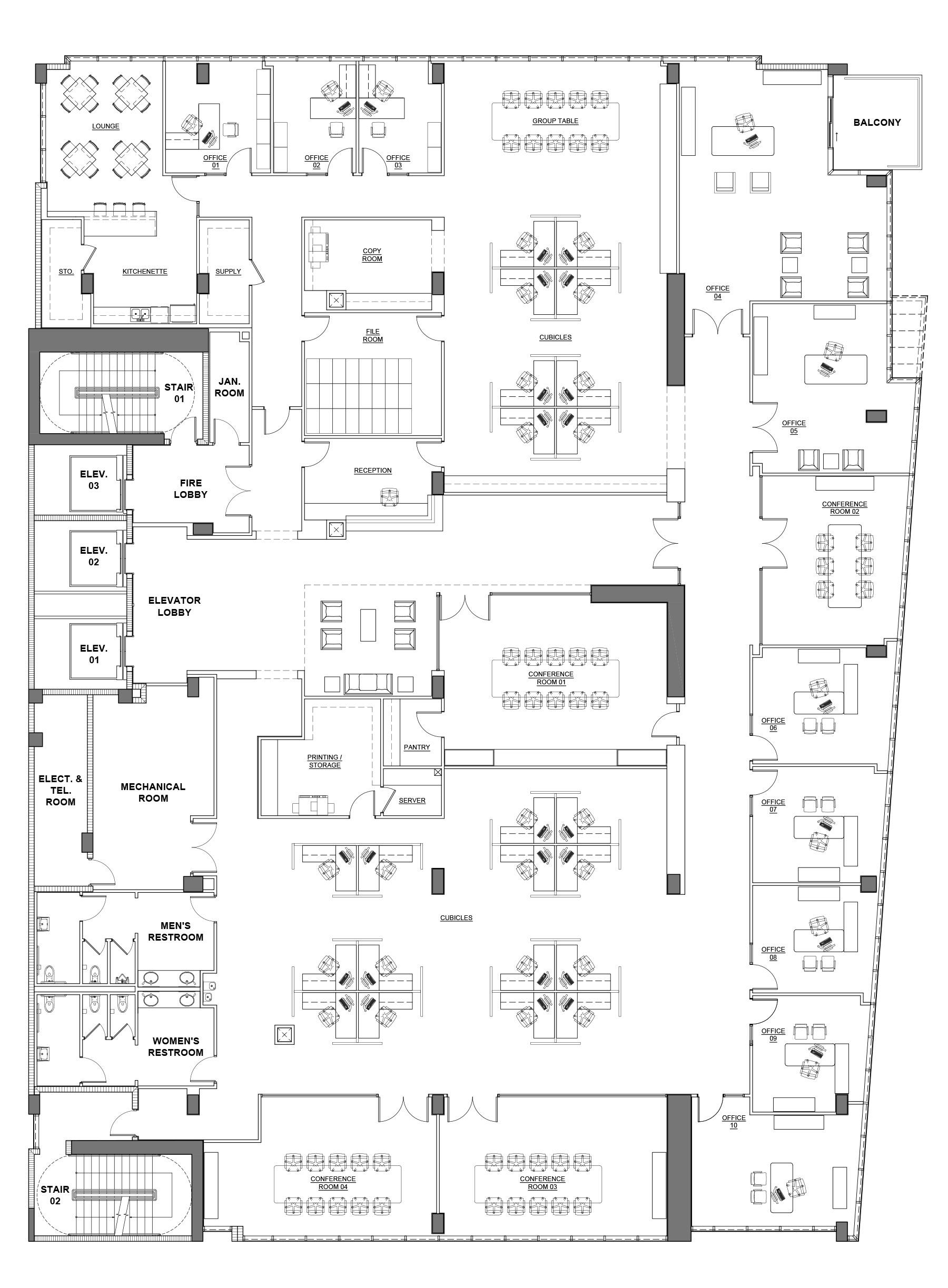 Milton Tower floor plans 1