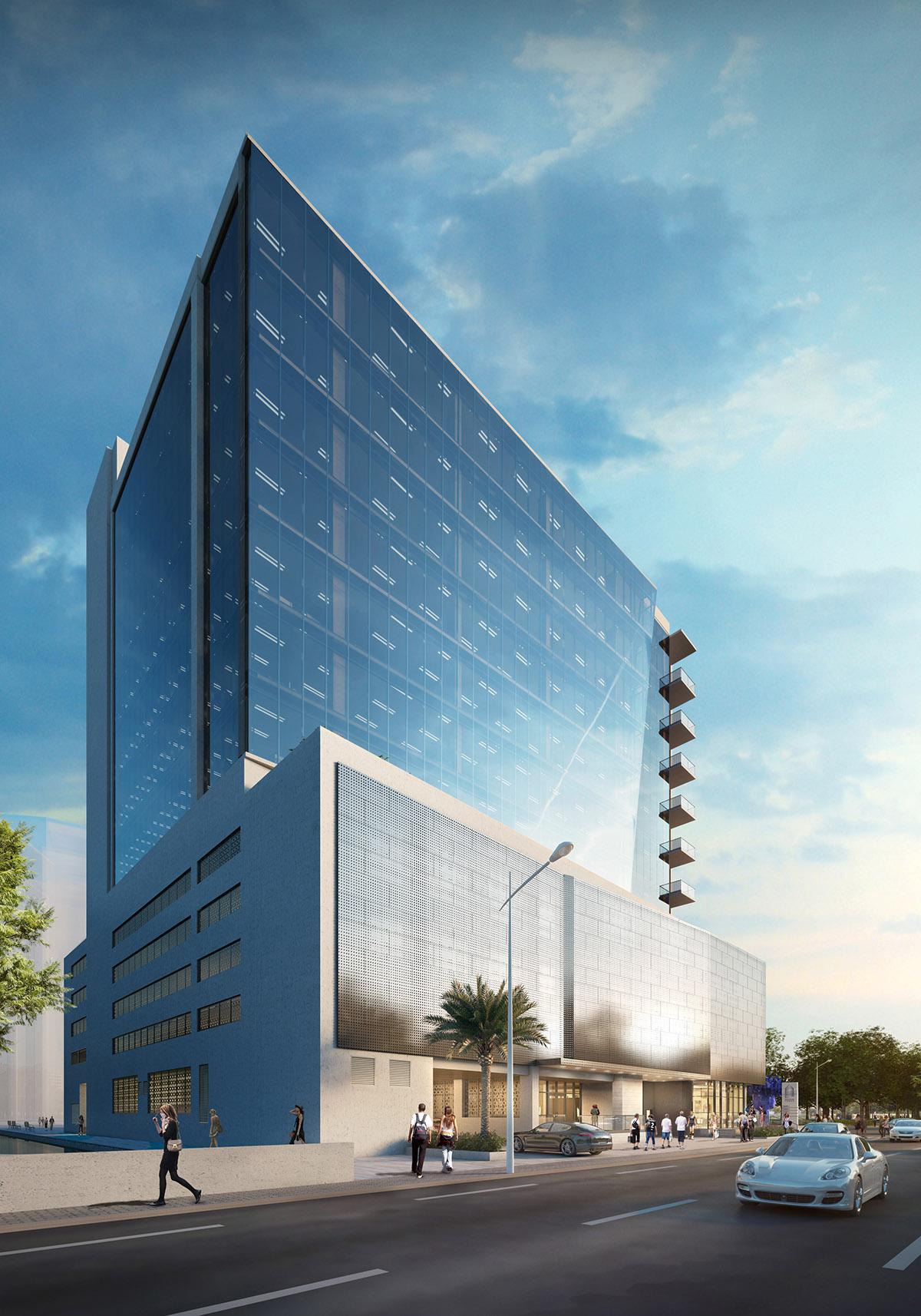 Milton tower digital rendering 1