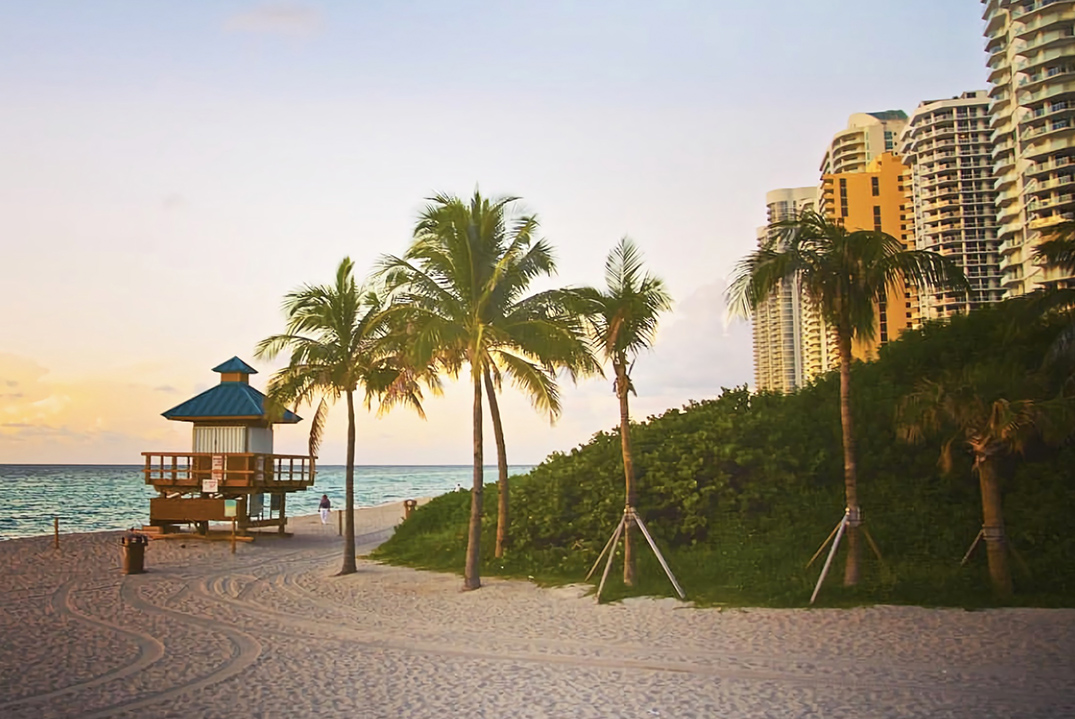 Open view from sunny isles beach